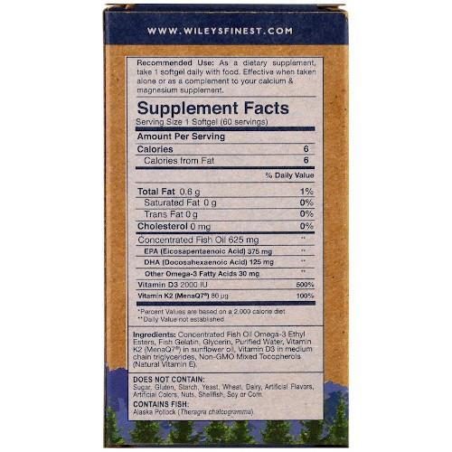 Wiley's Vitamin K2 60 Softgels-Wiley's-Ur Vitamins