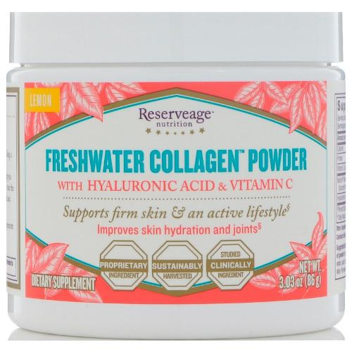 ReserveAge Freshwater Collagen Powder Lemon 3.03 oz-ReserveAge-Ur Vitamins