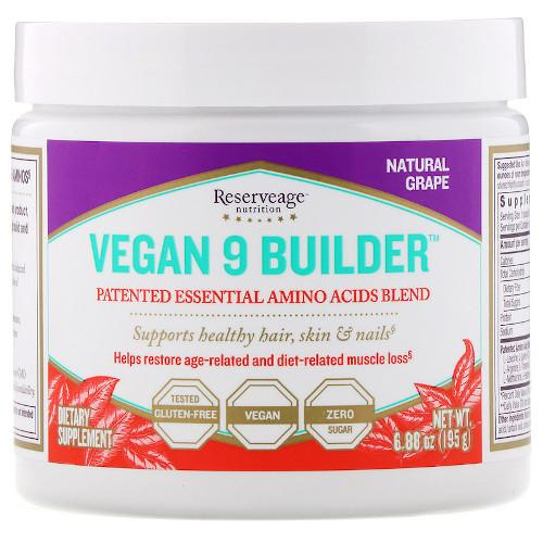 ReserveAge Vegan 9 Builder Grape 6.88 oz-ReserveAge-Ur Vitamins