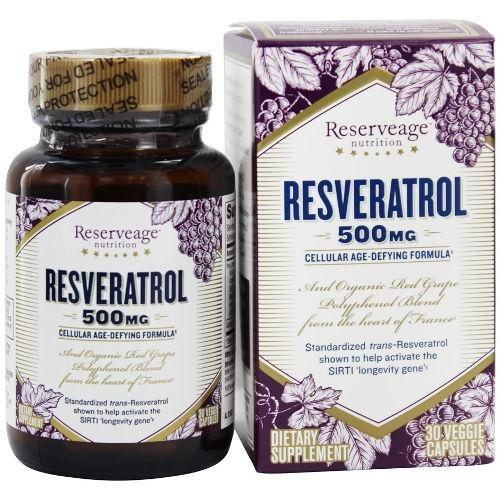 ReserveAge - Resveratrol 500mg 30 Caps|