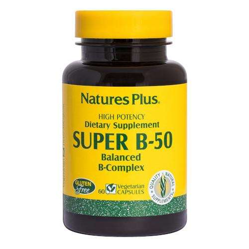 Nature's Plus Super B 50 60 Vcaps-Nature's Plus-Ur Vitamins
