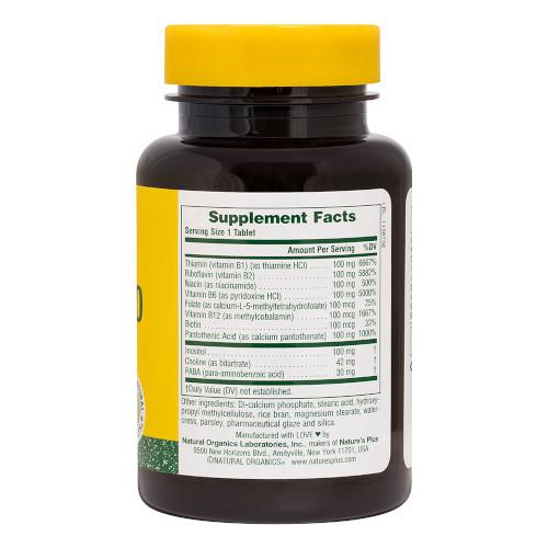 Nature's Plus Mega B 100 180 Tablets-Nature's Plus-Ur Vitamins