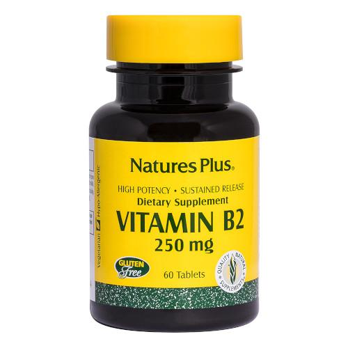Nature's Plus Vitamin B 2 250 Mg 60 Tablets-Nature's Plus-Ur Vitamins