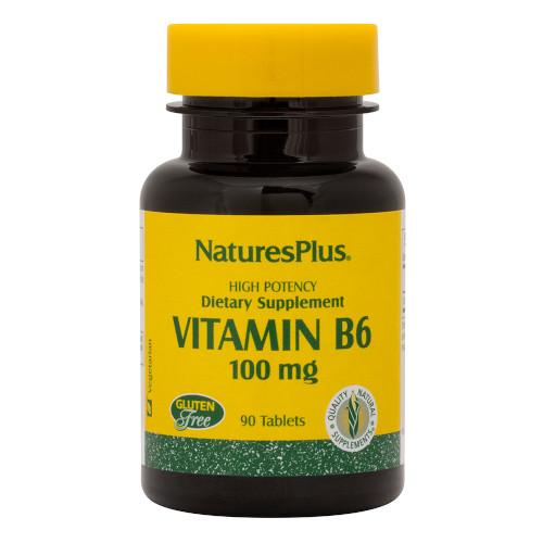 Nature's Plus Vitamin B 6 100 Mg 90 Tablets-Nature's Plus-Ur Vitamins