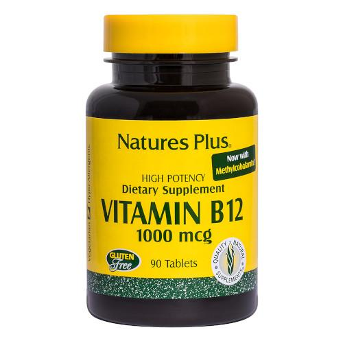 Nature's Plus Vitamin B 12 1000 Mcg 90 Tablets-Nature's Plus-Ur Vitamins