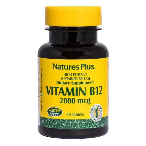 Nature's Plus Vitamin B 12 2000 Mcg 60 Tablets-Nature's Plus-Ur Vitamins