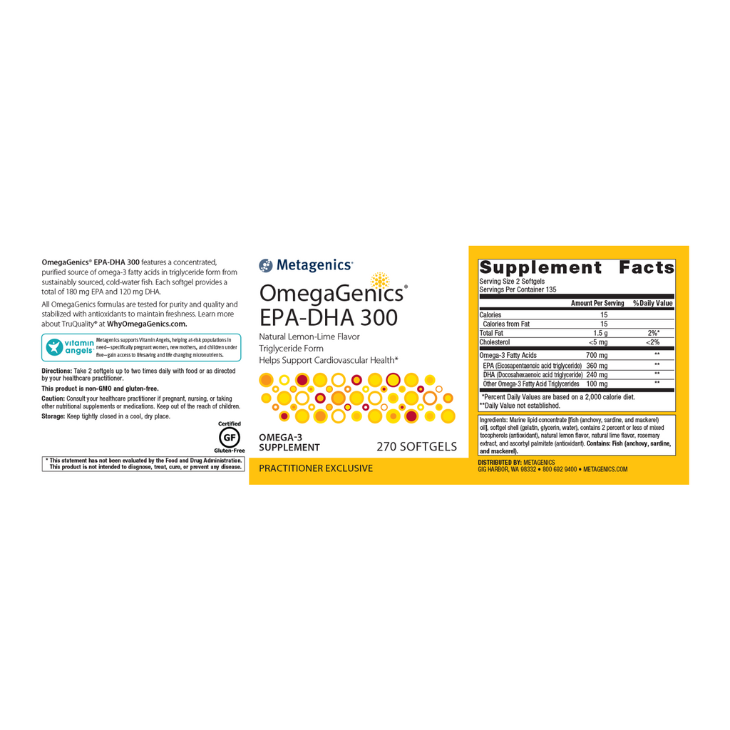 Metagenics OmegaGenics EPA-DHA 270 Softgels