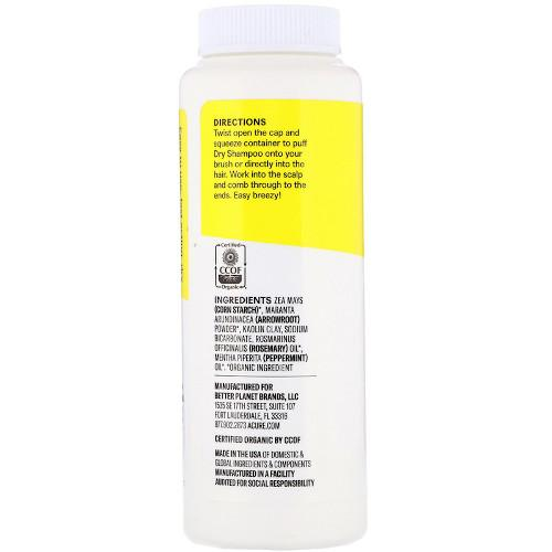 Acure Dry Shampoo Rosemary & Peppermint 1.7 oz