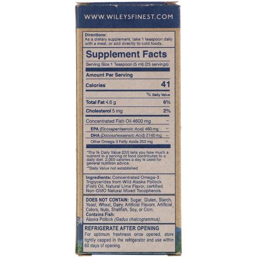 Wiley's Wild Alaskan Fish Oil Summit DHA 4.23 fl oz-Wiley's-Ur Vitamins