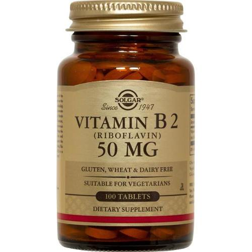 Solgar - Vitamin B2 Riboflavin 50 mg 100 Tablets