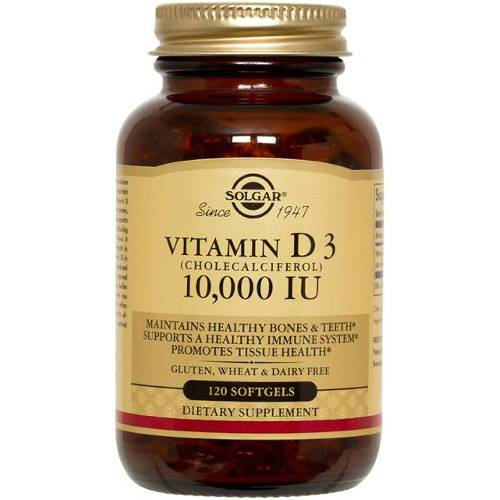 Solgar - Vitamin D3 10,000 IU 120 Softgels