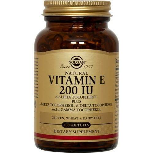Solgar - Vitamin E 200 IU 100 Vegetarian Softgels
