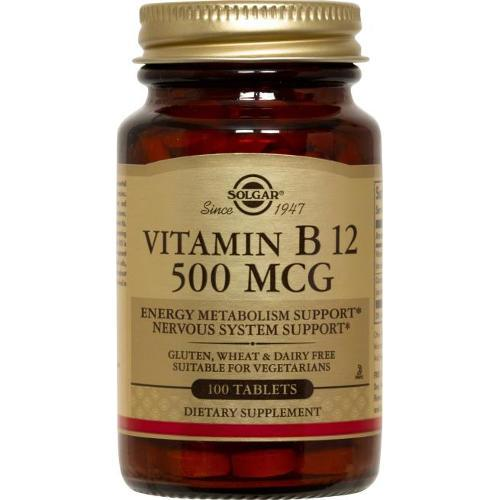 Solgar - Vitamin B12 500 mcg 100 Tablets