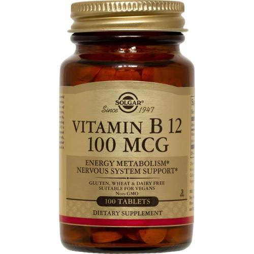 Solgar - Vitamin B12 100 mcg 100 Tablets