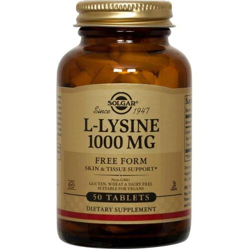 Solgar - L-Lysine 1000 mg 50 Tablets