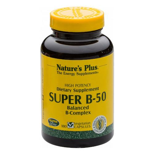 Nature's Plus Super B 50 180 Vcaps-Nature's Plus-Ur Vitamins