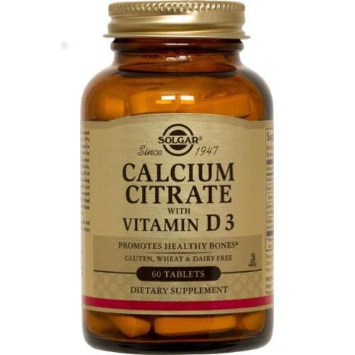 Solgar - Calcium Citrate with Vitamin D3 60 Tablets