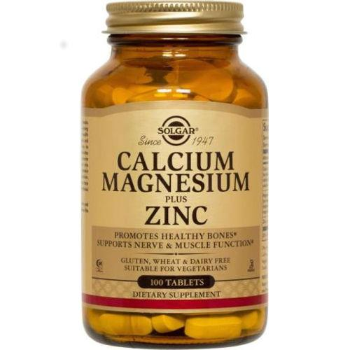 Solgar - Calcium Magnesium Plus Zinc 100 Tablets