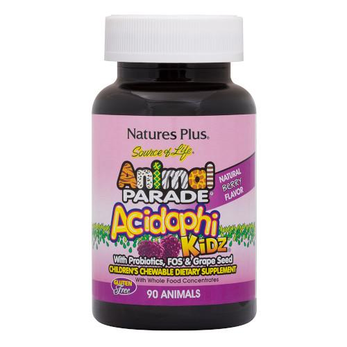 Animal Parade Acidophikidz 90 Servings-Nature's Plus-Ur Vitamins