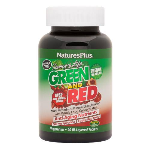Source Of Life Green/Red Bilayer Tabs 90-Nature's Plus-Ur Vitamins