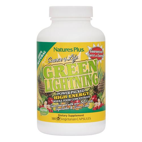 Source Of Life Green Lightning Vcaps 180-Nature's Plus-Ur Vitamins