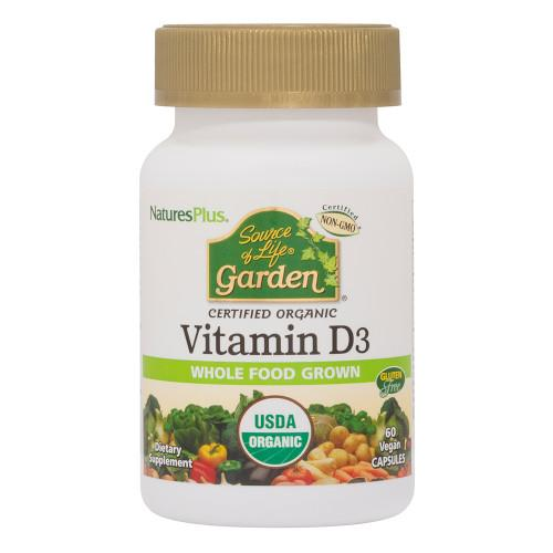 Source of Life Garden Vitamin D3 5000 IU Vcaps-Nature's Plus-Ur Vitamins