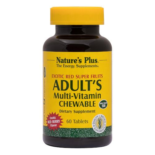 Adult's Multi-Vitamin Chewable Exotic Red Berry-Nature's Plus-Ur Vitamins