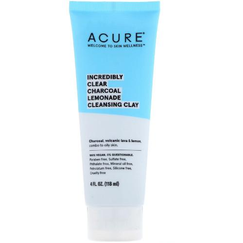 Acure Incredibly Clear Charcoal Lemonade Cleansing Clay 4 fl oz