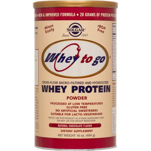 Solgar - Whey To Go Protein Chocolate Flavor 16 oz