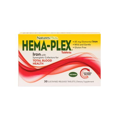 Hema Plex 6 Boxes Of 30 Tabs Each-Nature's Plus-Ur Vitamins