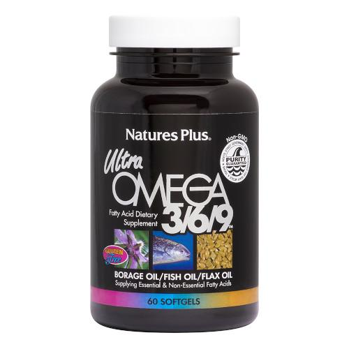 Nature's Plus Ultra Omega 3/6/9 Softgels 60-Nature's Plus-Ur Vitamins