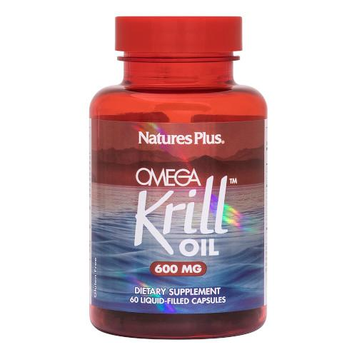Nature's Plus Omega Krill Oil 600mg 60 Caps-Nature's Plus-Ur Vitamins