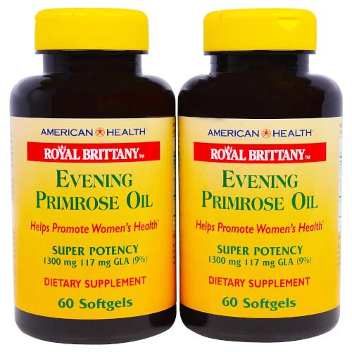 Evening Primrose Oil 1300 mg 60+60 Softgels