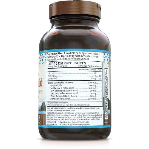 NutriGold Krill Oil Gold 500 mg 120 Softgels