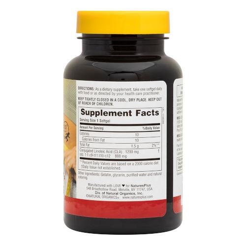 Nature's Plus Mega CLA 1200Mg 60 Softgels-Nature's Plus-Ur Vitamins
