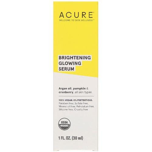 Acure Brilliantly Brightening Glowing Serum 1 fl oz