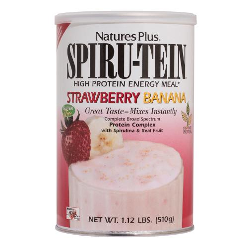 Spirutein Strawberry Banana Shake 1.2Lb-Nature's Plus-Ur Vitamins