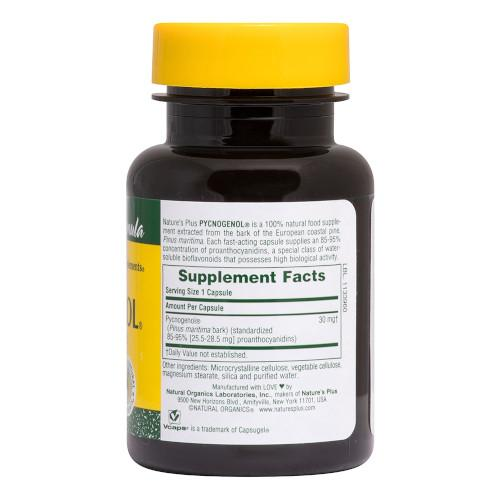 Nature's Plus Pycnogenol Vcaps 30-Nature's Plus-Ur Vitamins