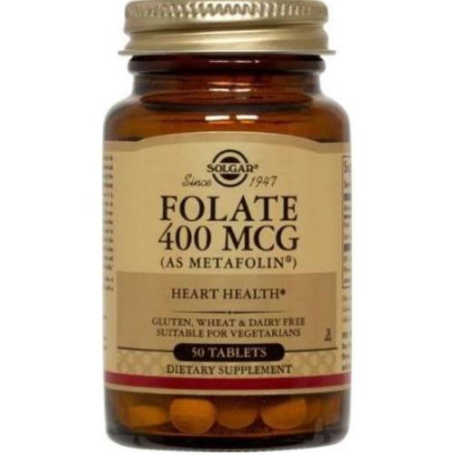 Solgar - Folate 400 mcg as Metafolin 50 Tablets