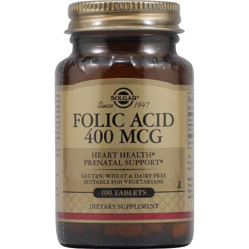 Solgar - Folic Acid 400 mcg 100 Tablets