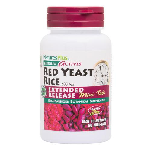Extended Release Red Yeast Rice 600Mg Mini Tabs 60-Nature's Plus-Ur Vitamins