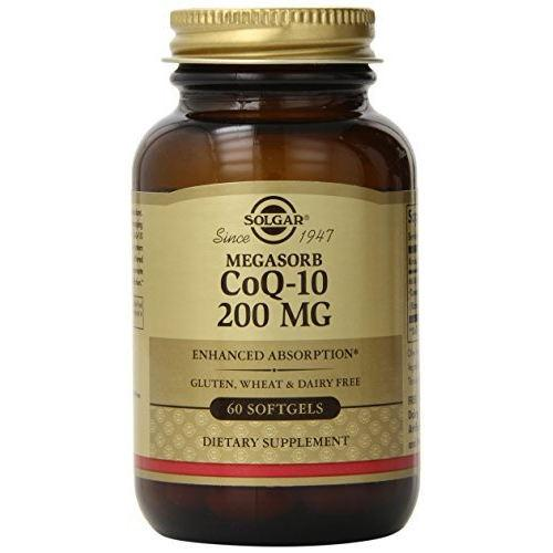 Solgar - Megasorb CoQ-10 200 mg 60 Softgels|Solgar - Megasorb CoQ-10 200 mg 60 Softgels