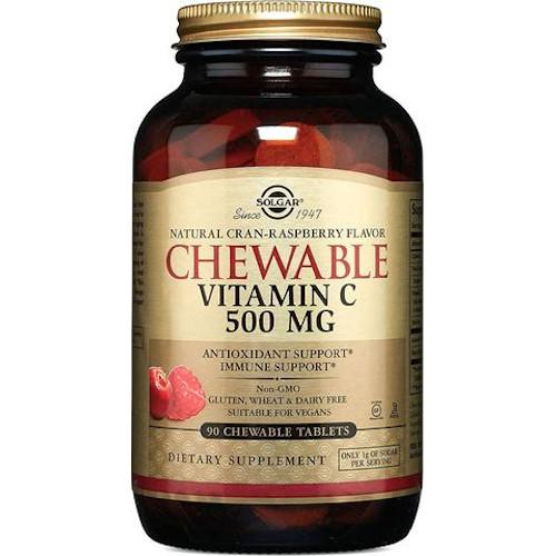 Solgar Chewable Vitamin C 500 mg Cran-Raspberry