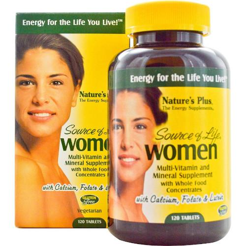 Source Of Life Women's Multi-Vitamin 120-Nature's Plus-Ur Vitamins