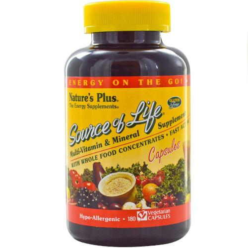 Nature's Plus Source Of Life Vcaps 180-Nature's Plus-Ur Vitamins
