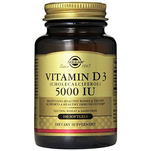 Solgar - Vitamin D3 5000 IU 100 Softgels