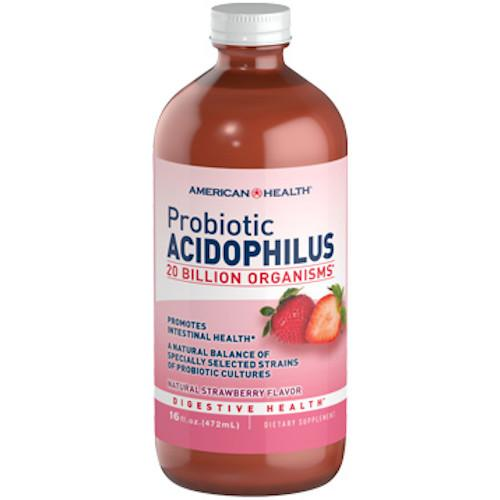 Probiotic Acidophilus Liquid Strawberry 16 oz