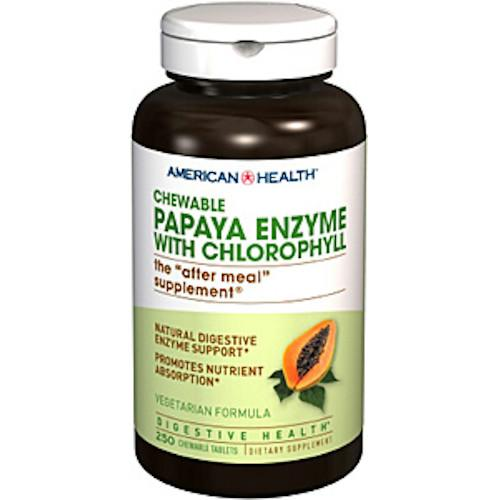 Papaya Enzyme With Chlorophyll 250 Tablets