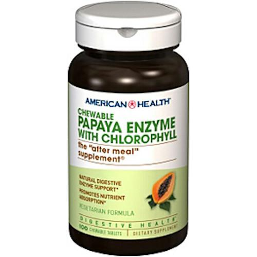 Papaya Enzyme With Chlorophyll 100 Tablets