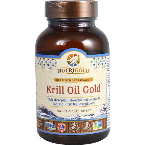 NutriGold - Krill Oil Gold 500 mg 120 Capliques|
